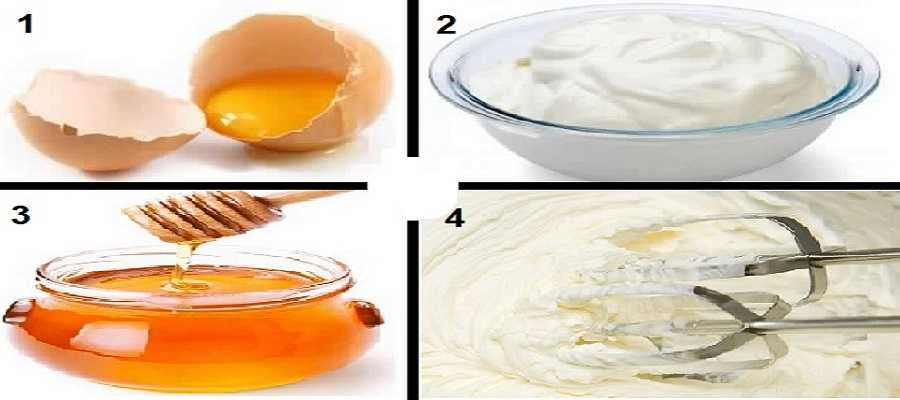 home remedies for hair growth and thickness - egg with yogurt