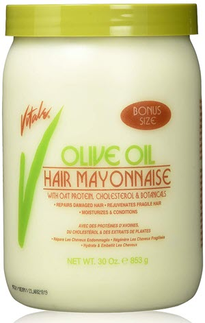 Vitale Olive Oil Hair Mayonnaise 30oz with Oat & Egg Protein and Vitamins